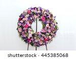 colorful flower arrangement... | Shutterstock . vector #445385068
