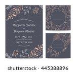 vintage vector frame. botanical ... | Shutterstock .eps vector #445388896