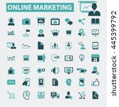 online marketing icons | Shutterstock .eps vector #445399792