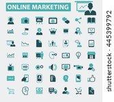 online marketing icons   Shutterstock .eps vector #445399792