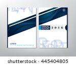 blue green annual report... | Shutterstock .eps vector #445404805