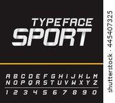 sport modern english active... | Shutterstock .eps vector #445407325