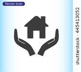 house vector icon  | Shutterstock .eps vector #445413052