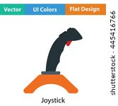 joystick icon. flat color...