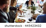 business people lunch... | Shutterstock . vector #445423432