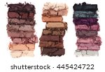 crumbling eye shadow swatches | Shutterstock . vector #445424722