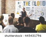 the cloud networking connection ... | Shutterstock . vector #445431796