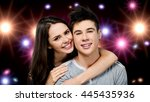 young couple.   Shutterstock . vector #445435936