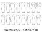 set of woman dresses  vector... | Shutterstock .eps vector #445437418