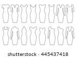 set of woman dresses  vector... | Shutterstock .eps vector #445437418