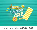 summer sale background  with... | Shutterstock .eps vector #445441942