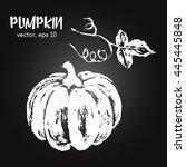 sketched vegetable illustration ... | Shutterstock .eps vector #445445848