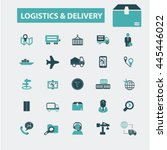 logistics  delivery icons | Shutterstock .eps vector #445446022