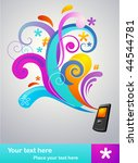 colorful abstract concept... | Shutterstock .eps vector #44544781