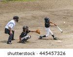 scenery of the little league... | Shutterstock . vector #445457326