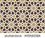 morocco seamless pattern.... | Shutterstock . vector #445460386