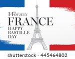 france. 14 th of july. happy... | Shutterstock .eps vector #445464802