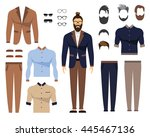 man in office clothes  stylish... | Shutterstock .eps vector #445467136