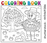 Coloring Book Farmer With...
