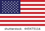 usa american flag vector | Shutterstock .eps vector #445475116