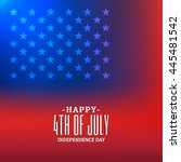 4th of july background with... | Shutterstock .eps vector #445481542