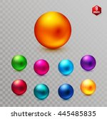 set of nine multicolored...   Shutterstock .eps vector #445485835