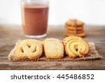 butter cookies closeup  on... | Shutterstock . vector #445486852