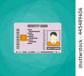 id card. identity card ... | Shutterstock .eps vector #445489606