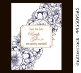 wedding invitation cards with... | Shutterstock .eps vector #445509562