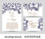 wedding invitation cards with...   Shutterstock .eps vector #445509568