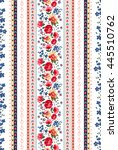 seamless cuban floral border... | Shutterstock .eps vector #445510762