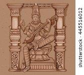 vector design of vintage statue ...   Shutterstock .eps vector #445516012