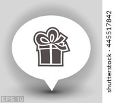 pictograph of gift | Shutterstock .eps vector #445517842