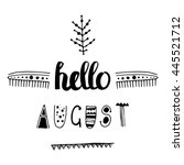 uncommon vector hand drawn with ... | Shutterstock .eps vector #445521712