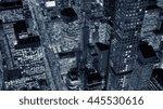 new york city skyline cityscape ... | Shutterstock . vector #445530616