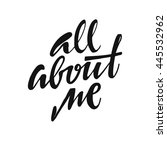 all about me.  hand drawn...   Shutterstock .eps vector #445532962