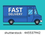 concept of the delivery service.... | Shutterstock .eps vector #445537942