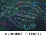 euro sign. money background.... | Shutterstock . vector #445556482