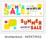 summer sale template. sale... | Shutterstock .eps vector #445572922