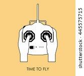 vector illustration of white... | Shutterstock .eps vector #445575715
