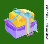 homemade bars soaps  flowers...   Shutterstock .eps vector #445579555
