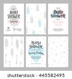 baby shower girl and boy...   Shutterstock . vector #445582495