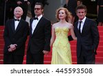 Small photo of CANNES - MAY 16, 2011: Brad Pitt, Jessica Chasten and Sean Penn seen at the Cannes Film Festival on May 16, 2011 in Cannes