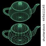 Illustration Teapot Shape In...