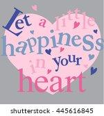 heart. love.  | Shutterstock .eps vector #445616845