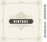 vintage ornamental greeting card | Shutterstock .eps vector #445630246