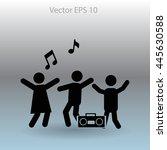 party vector icon   Shutterstock .eps vector #445630588