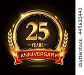 celebrating 25 years... | Shutterstock .eps vector #445632442