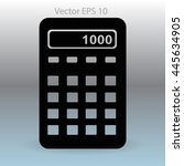 electronic calculator vector... | Shutterstock .eps vector #445634905