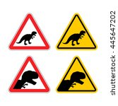 warning sign of attention... | Shutterstock .eps vector #445647202